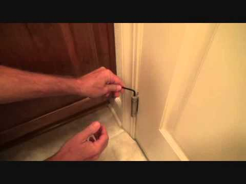 Getting ready to adjust a self closing hinge & Getting ready to adjust a self closing hinge - YouTube