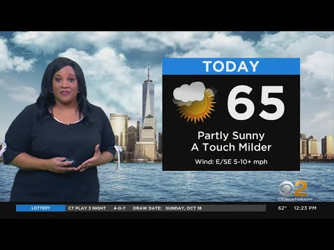 New York Weather: CBS2's 10/19 Monday Afternoon Update