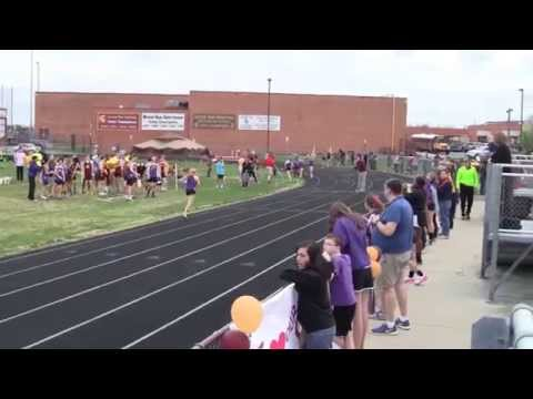 Potomac Falls High School girls 800 meter run at Broad Run High School Spring 2015