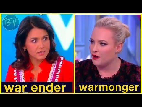 ALERT: Tulsi Gabbard Demolishes 'The View' co-host Meghan McCain