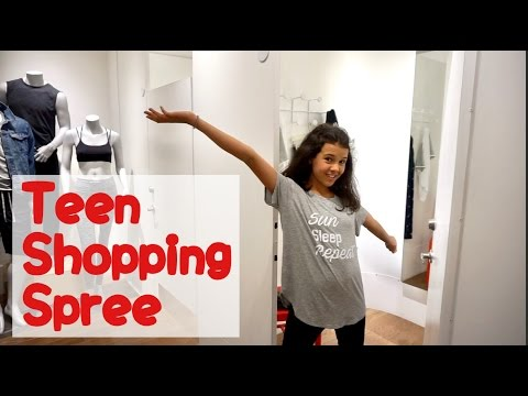 TEEN SHOPPING SPREE | What did she buy?