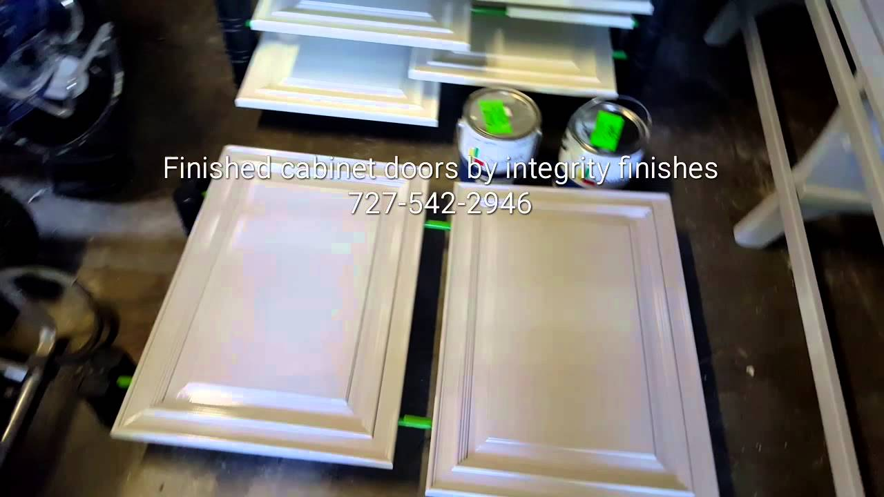 Solid color lacquer on wood cabinets. painting t&abay & Solid color lacquer on wood cabinets - YouTube