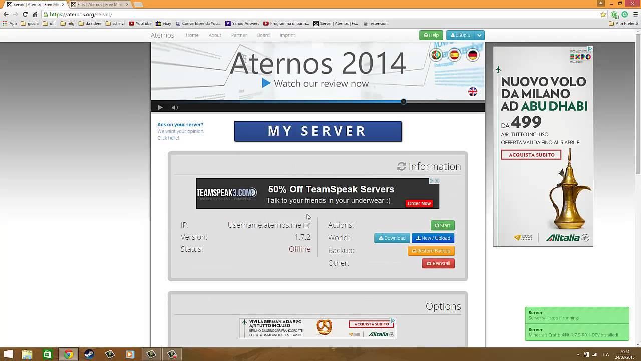 Come hostare un server Minecraft gratis con Aternos! - YouTube