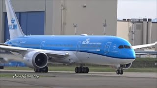 KLM 787-9 Dreamliner PH-BHC Reject TakeOff & Test Flight @ KPAE Paine Field
