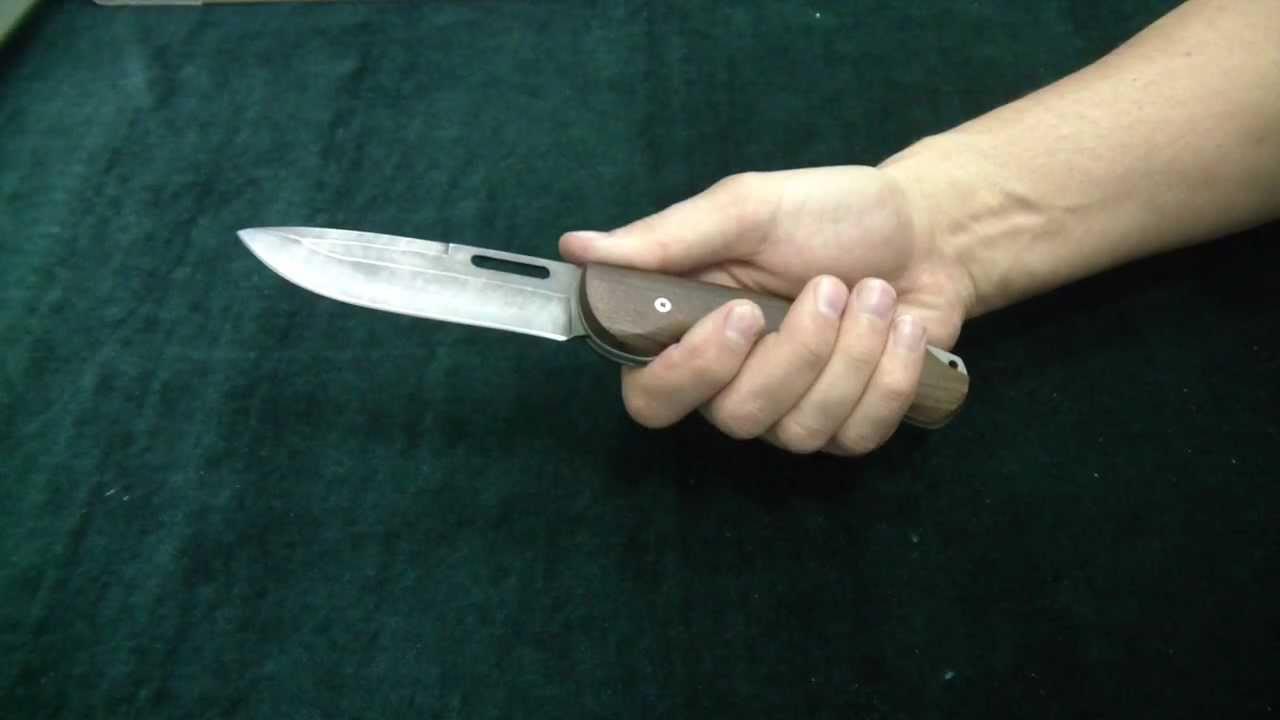 Складной нож Кайрос, сталь Х12МФ, орех