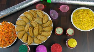 Zoom out shot of a decorated table for the joyful Holi festival celebrated in India