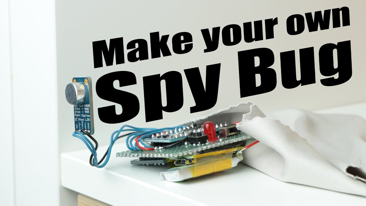 make your own spy bug (arduino voice recorder) youtubemake your own spy bug (arduino voice recorder)