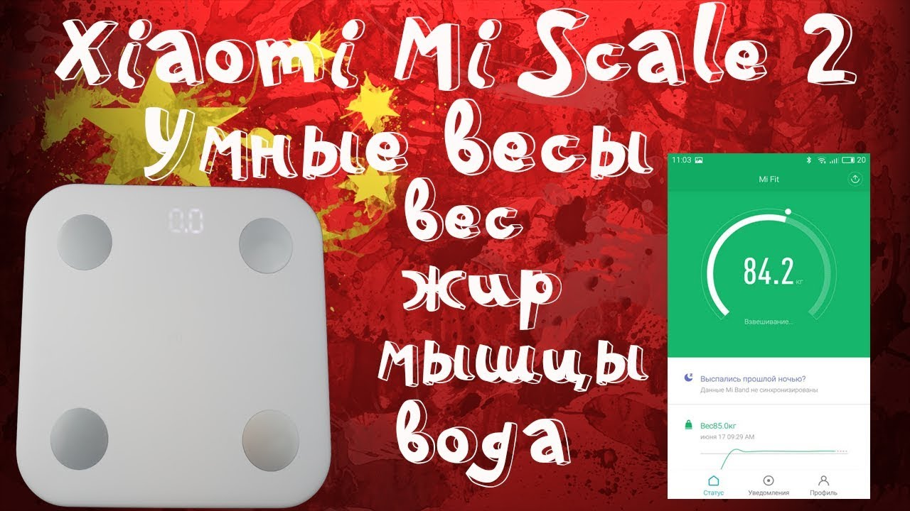 Обзор весов Xiaomi Smart Scale - YouTube