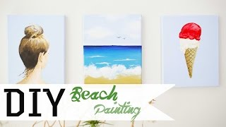 How To Paint A Beach Scene DIY 1/3 | ANNEORSHINE Thumbnail