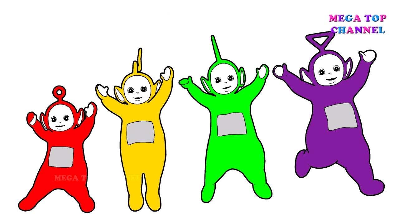 Learn Colours For Children With Teletubbies Tinky Winky Lala Po ...