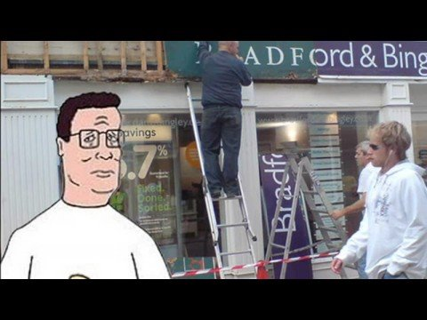 Hank Hill Calls Bradford & Bingley (UK Bank)