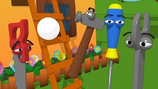 Funny Tools For Kids (ep.15) - Playing Ball And Building A Ladder - Aapv