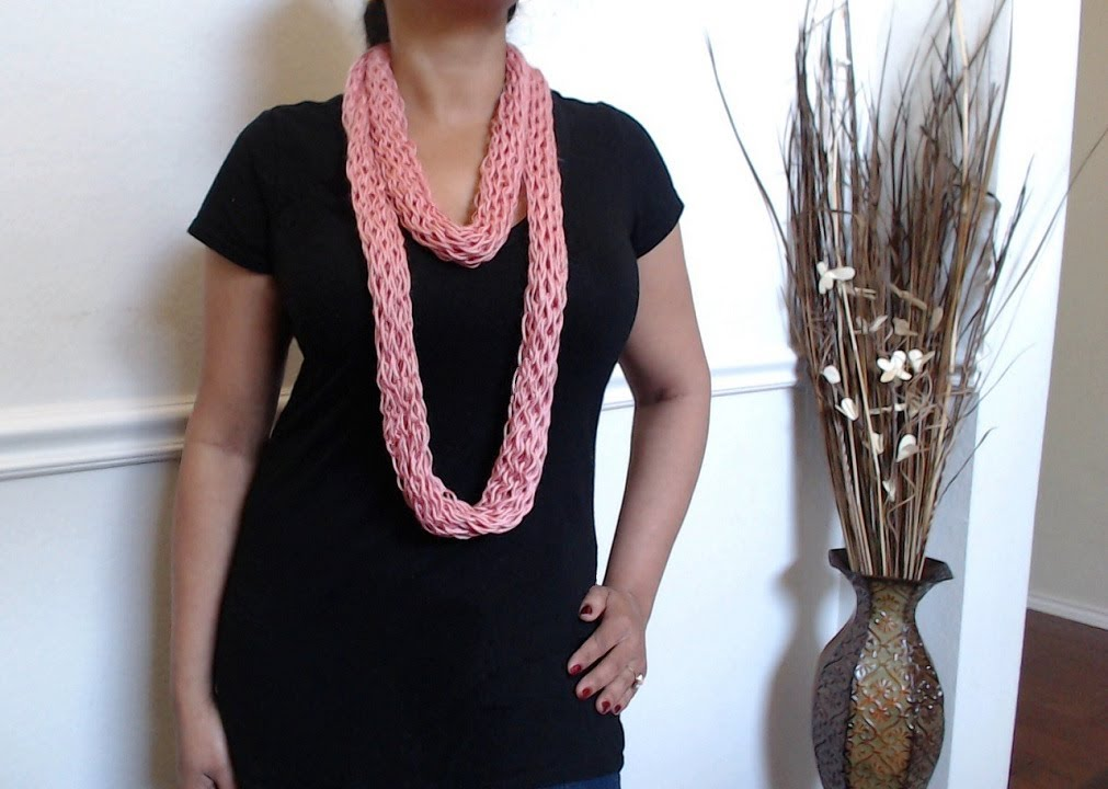 How to make no crochet or knit scarf (just yarn and cardboard) - YouTube