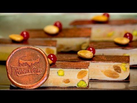 Turrón Almendras, Pistachos y Chocolate VEGANO – Almonds, Pistachios and Chocolate Nougat VEGAN