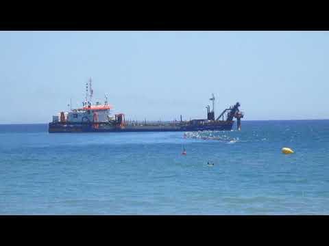 Coastal engineering: sand disposal, Gava (Barcelona). Jose Mejuto.