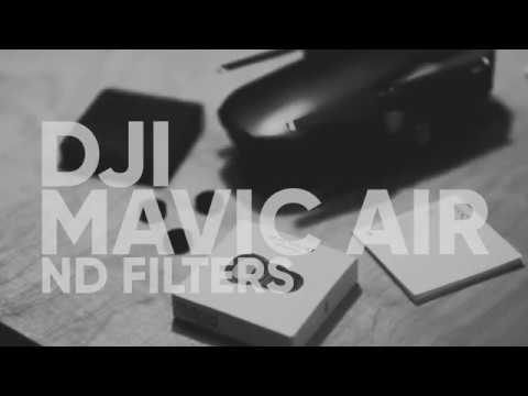 DJI Mavic Air ND Filter set unboxing and installation in 4k