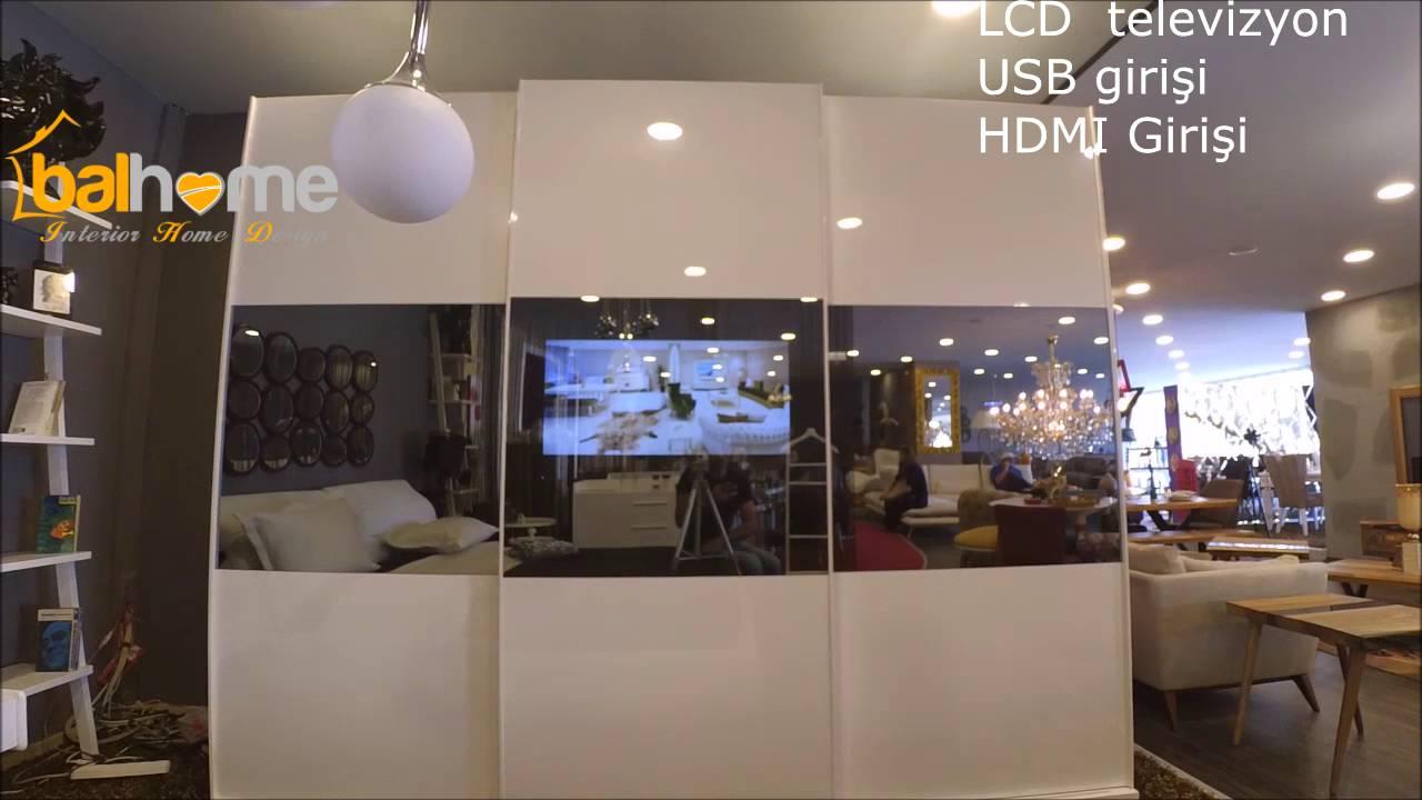 Mobilya Balhome Den Led Tv Li Yatak Odasi