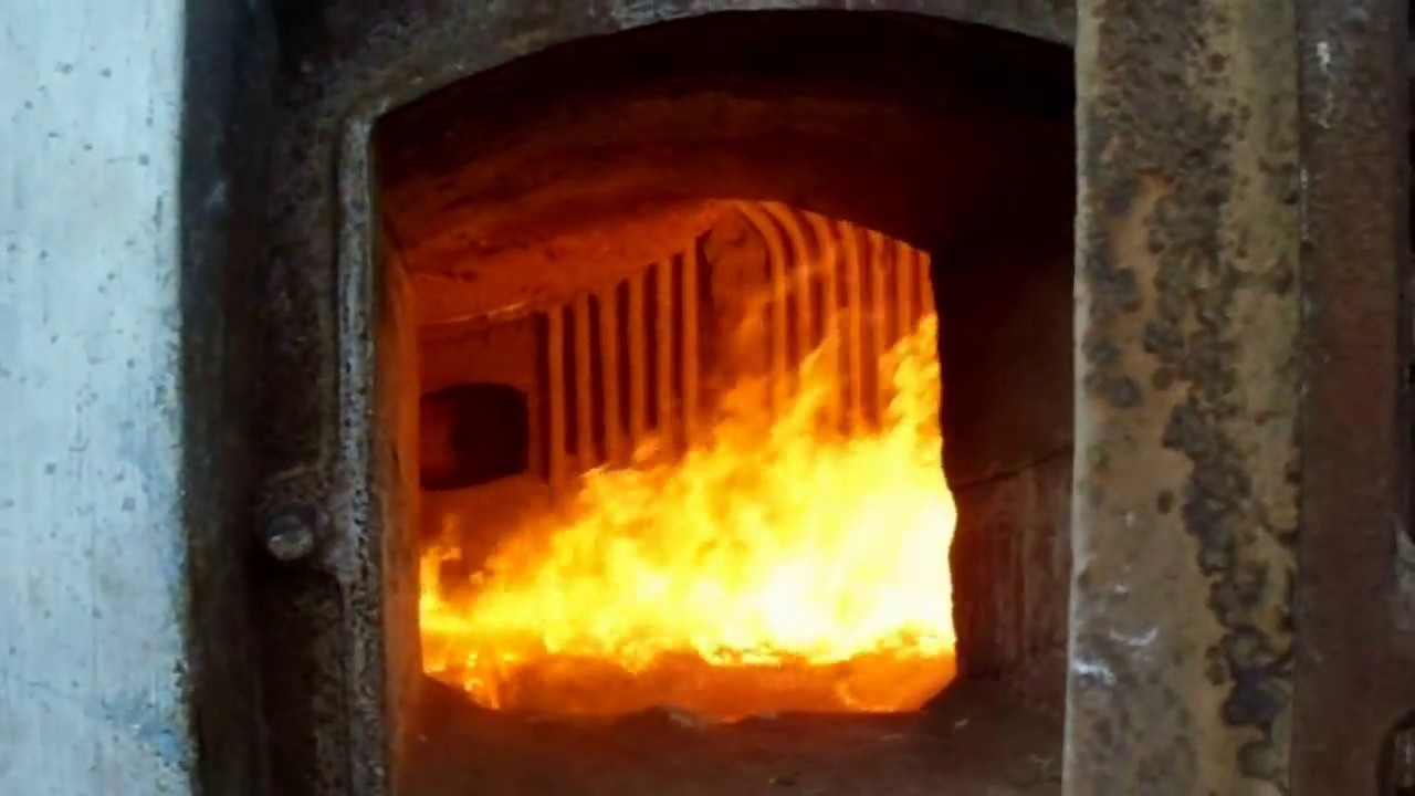 Coal Fired Power Plant Boiler Furnace Combustion Youtube