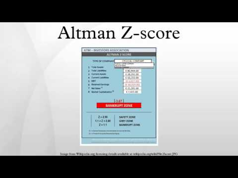Altman Z-score - YouTube