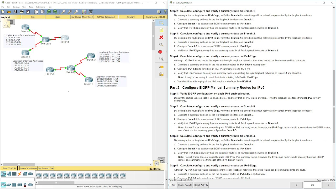 72062fcc9f9d 2 Array - lab 8 1 2 5 packet tracer configuring eigrp manual summary routes  rh youtube