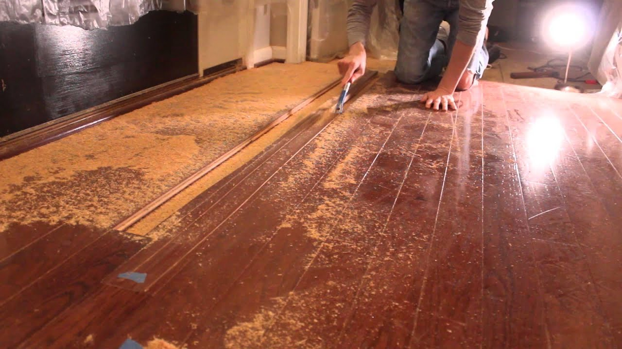 How To Remove Hardwood Flooring Youtube