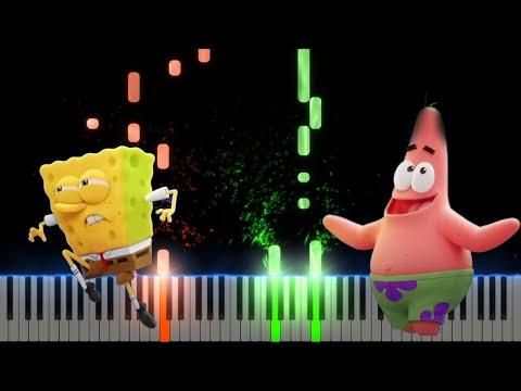 Tainy, J Balvin Agua Sponge On The Run Piano Cover Midi tutorial Sheet app  Karaoke
