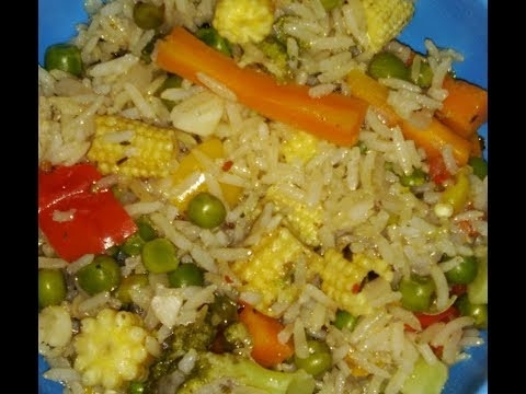 Diet Receipe for weight loss Brown Rice Nutritious Healthy Pulao( Ukda  Red Rice cha healthy  Pulao)