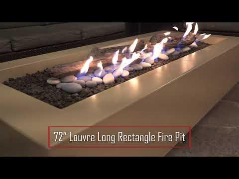 Louvre Long Rectangle Fire Pit