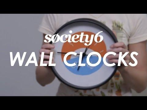 Wall Clocks From Society6 - Product Video