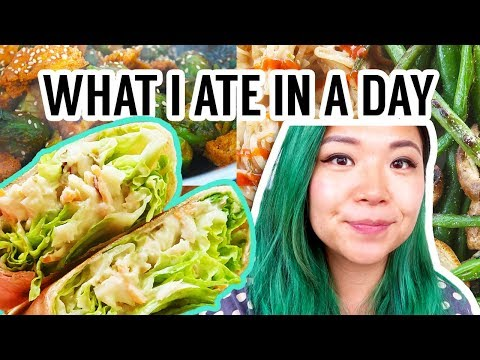 What I Ate in a Day! VEGAN & REALISTIC easy recipes