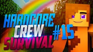 "Minecraft - Hardcore Crew Survival FINALE! - ""END PORTAL SURPRISE!!"" Episode 15"