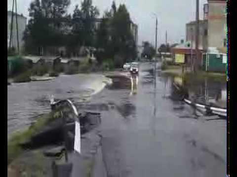 Шимановск паводок 11 августа 2013 река Большая Пёра проснулась