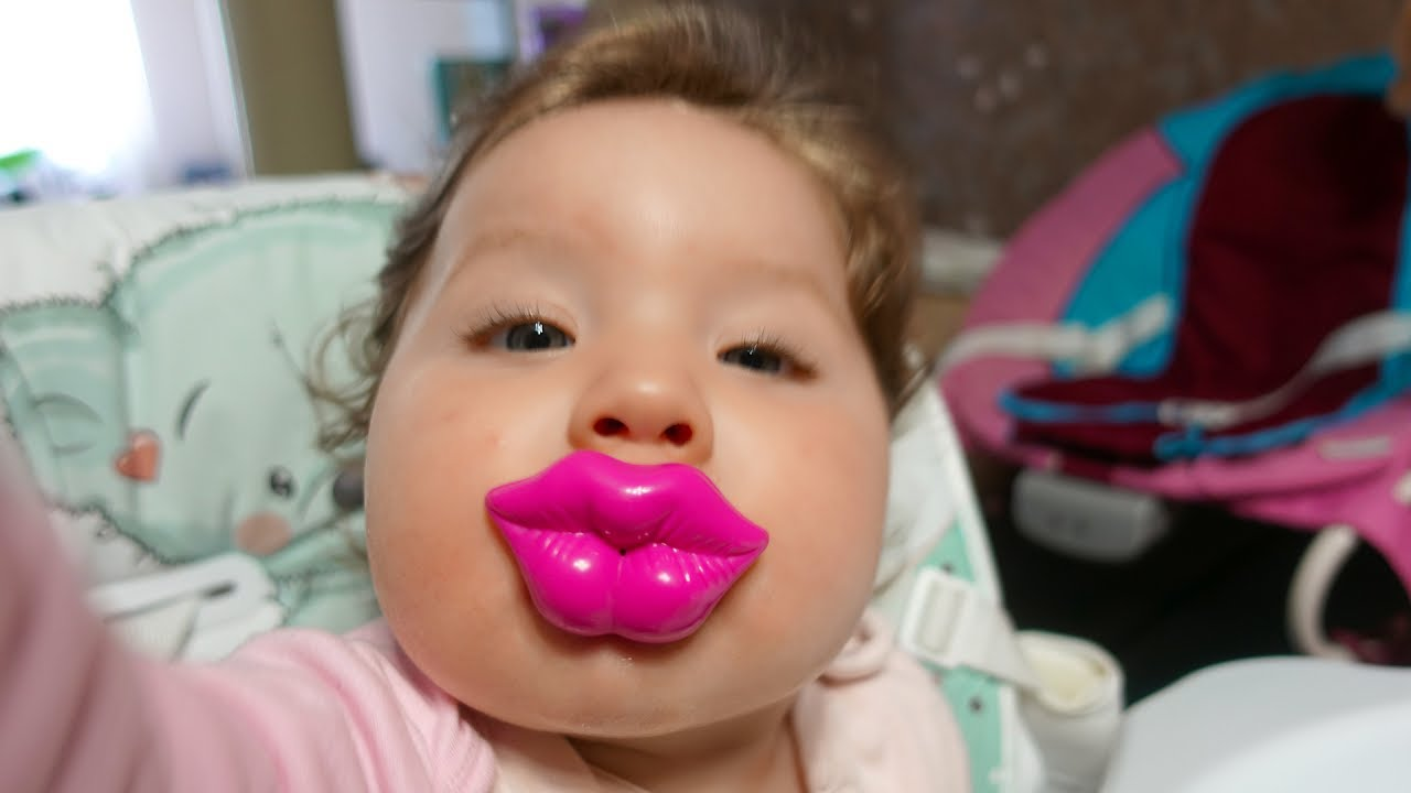 cute baby likes funny pacifiers - funny baby videos - youtube