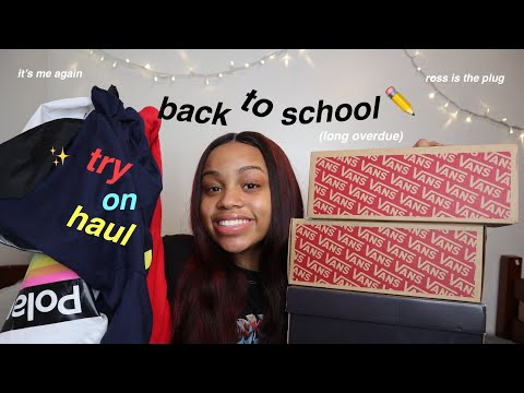 your standard back to school try on haul 2019 | seasonsofshai