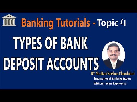 Types of BankDepositAccounts|Topic4|BankingTutorial|Learn Banking With EasyTips|InternationalBanking