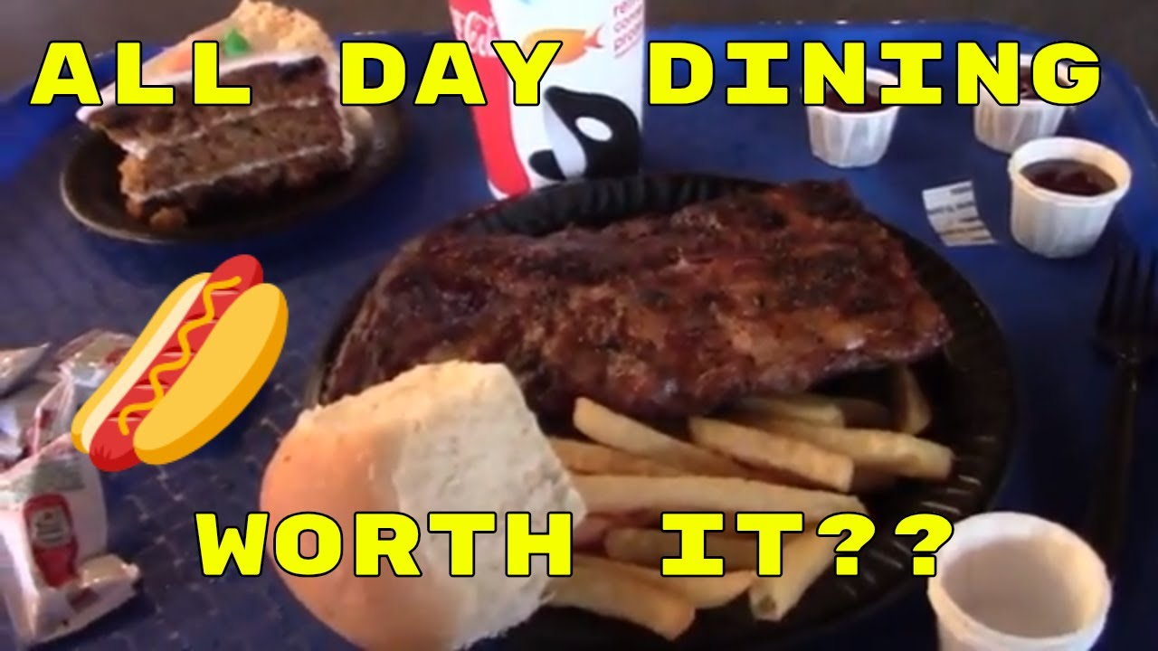 Seaworld All Day Dining Youtube