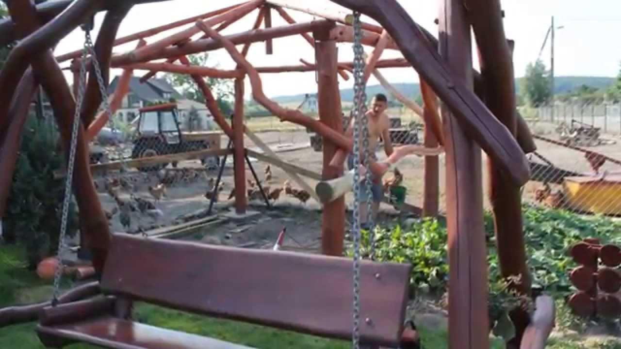Budowa Altany łóżko Huśtawka I żyrandol