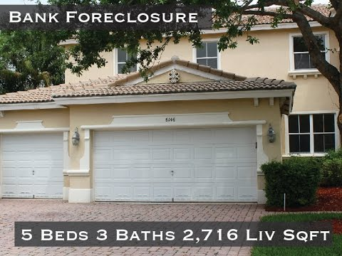 Bank Foreclosure Journey's End  5 Beds 3 Baths House For Sale Lake Worth, FL