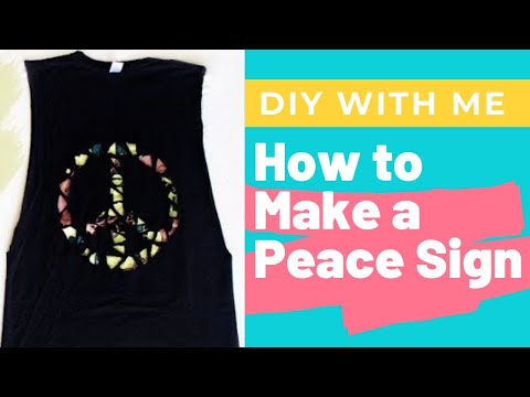 How To Cut Work Out Tank Tops With A Peace Sign DIY