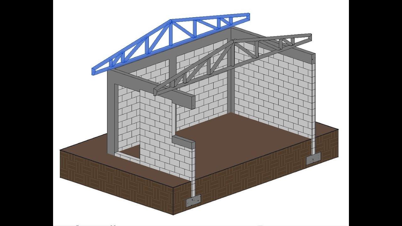 Revit estructura cerchas met licas mediante vigas - Estructura metalicas para casas ...