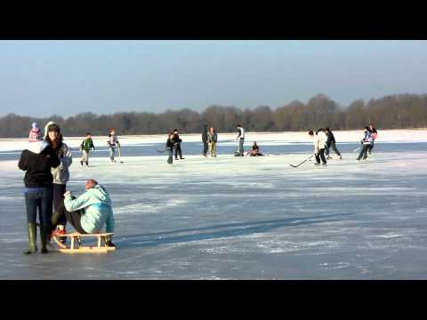 Ice Hockey Port Meadow Oxford Feb. 2012
