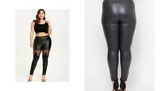 Faux Leather Pants Plus Size