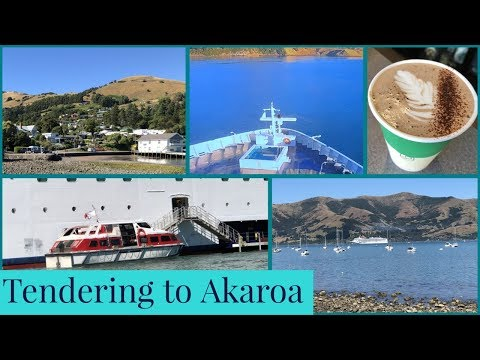 Cruise Ship Tendering To AKAROA (Christchurch) L New Zealand Cruise Vlog L Ep. 11