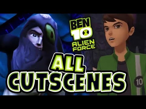 Ben 10: Alien Force All Cutscenes | Full Game Movie (PS2, PSP, Wii)