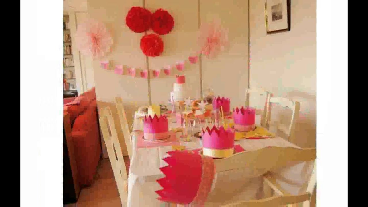 Decoration anniversaire princesse youtube for Site deco maison pas cher
