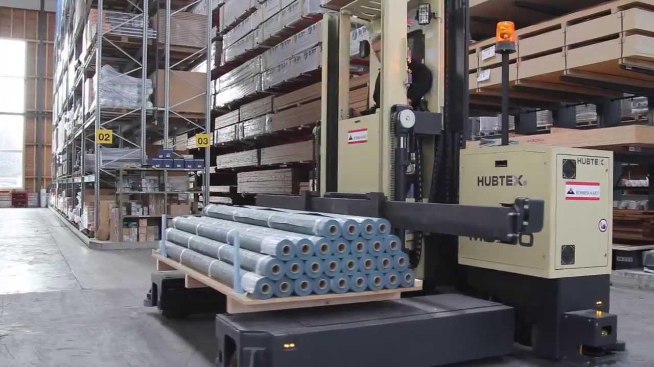 Погрузочная техника HUBTEX на фирме StarkAG - производитель деревянных материалов для строительства