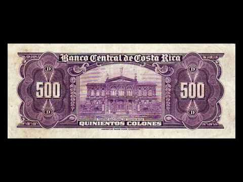 All Costa Rican Colon Banknotes - 1951 to 1977 Series A Issue