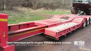 Une semi-remorque Verem à trois essieux pour le transfert des plus lourds engins
