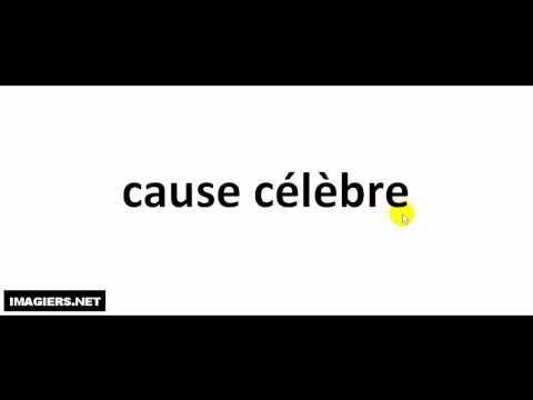 French pronunciation = cause célèbre