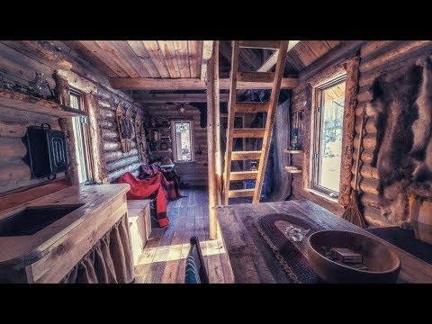 Log Cabin Wilderness Homestead, Maple Syrup, Wild Edibles, Primitive Skills
